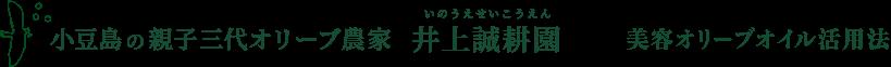 小豆島の親子三代オリーブ農家 いのうえせいこうえん 井上誠耕園 美容オリーブオイル活用法