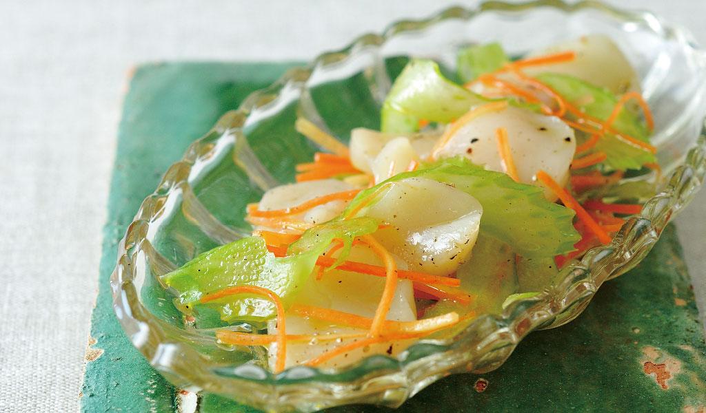 ホタテとセロリの檸檬風味サラダ