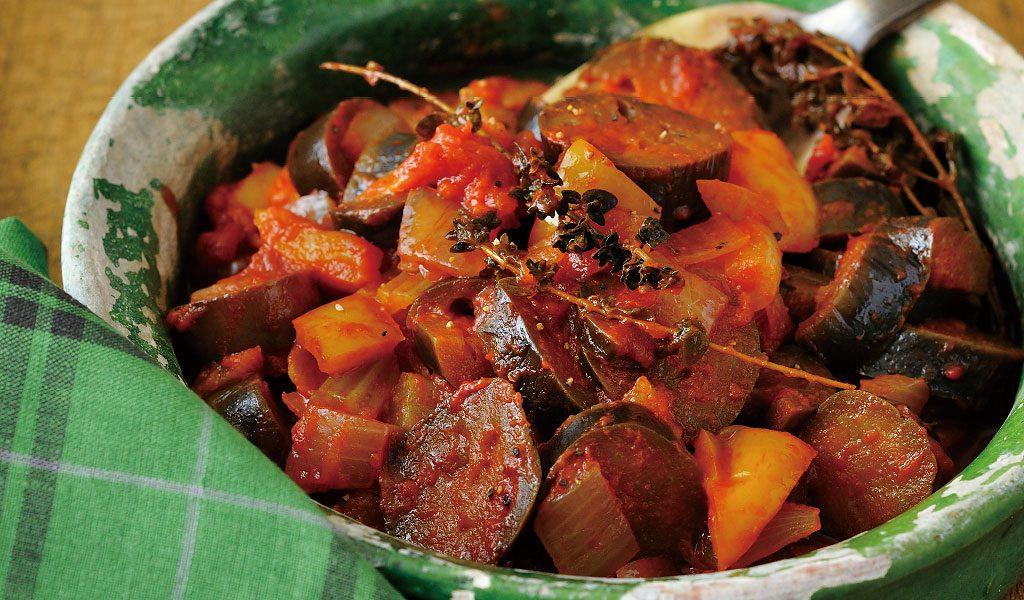 作り置きOK。冷やして美味しい!夏野菜のトマト煮
